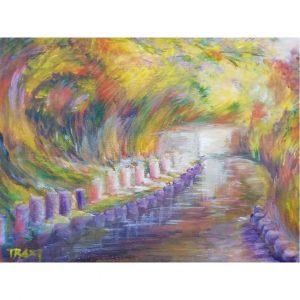 Path of Wonders, Tempera Painting 10x12 in / 24x30 cm