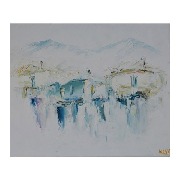 Blue Winter, Oil Painting 20x24 in / 50x60 cm