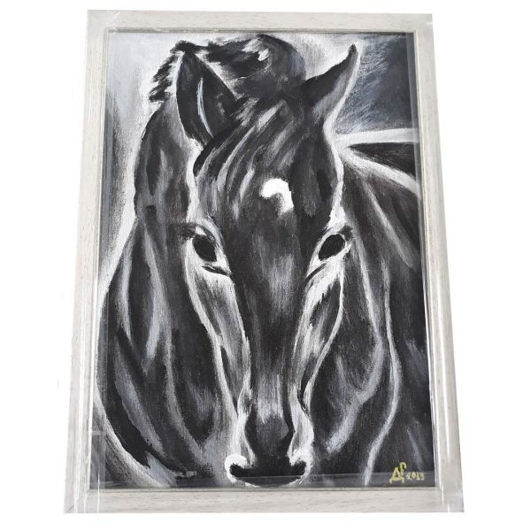 Lucky Horse, Oil Painting 18x14 in / 45x35 cm