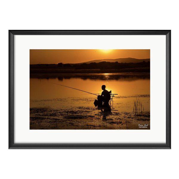 Fisherman, Photography Framed Art Print by Raina Sind