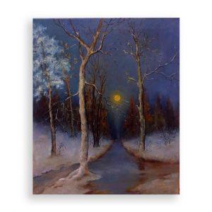 Winter Evening, Oil Painting by Elena Velichkova