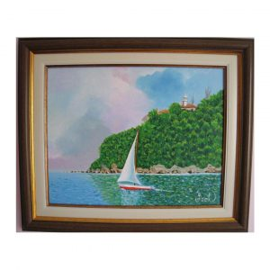 """Boat, Oil Painting 13x15"""" (33x39cm)"""