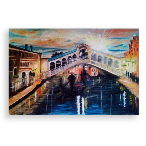 Sunset over Venice, Oil Painting by Ivanka Alexieva