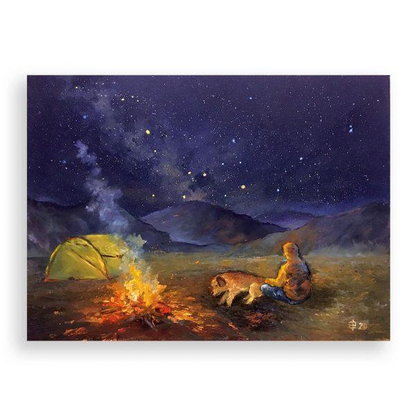 A Million Stars, Oil Painting by Elena Velichkova