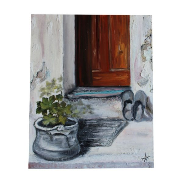 """The Old House, Acrylic Painting 13x16"""" (33x41cm)"""