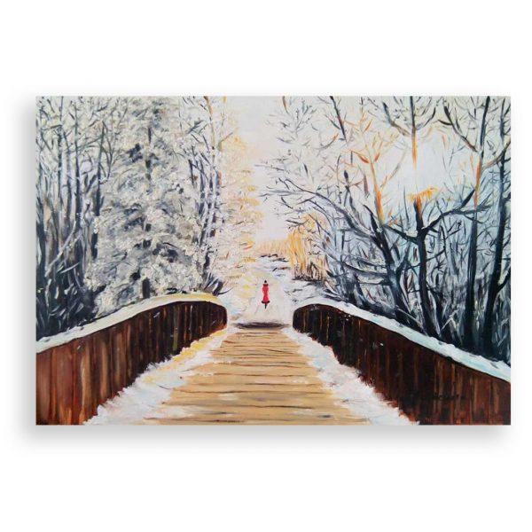 The Bridge, Oil Painting by Ivanka Alexieva
