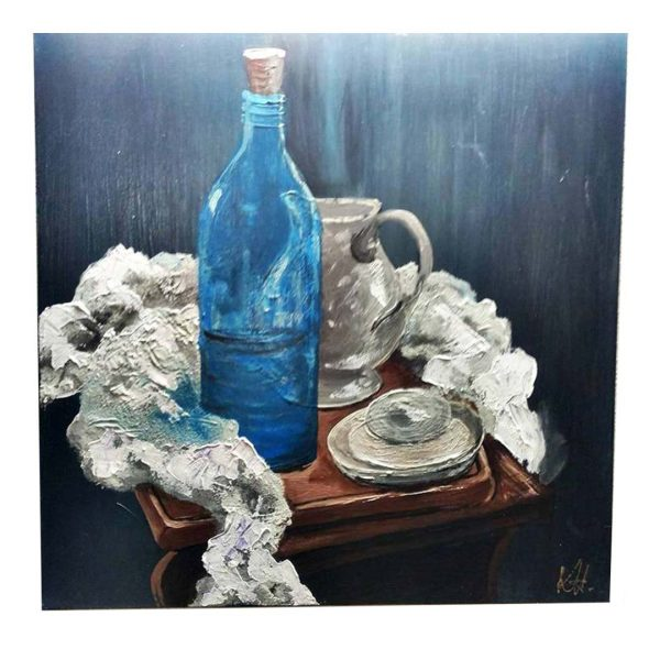 "Blue Radiance, Acrylic Painting 14x14"" (35x35cm)"