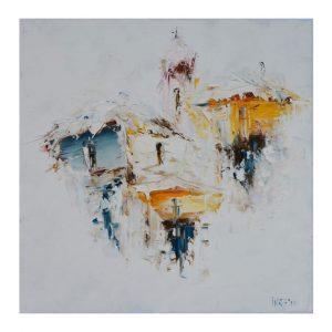 Frozen Dreams, Acrylic Painting 20x20 in / 50x50 cm