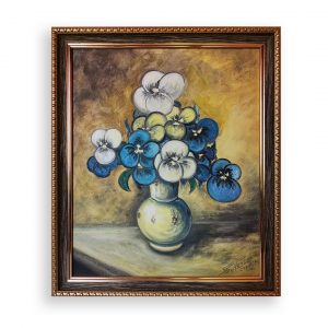Violets, Oil Painting by Georgi Paunov - Son
