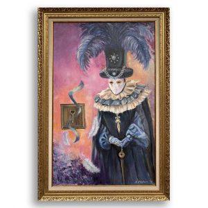 The Venetian, Oil Painting by Neda Nacheva