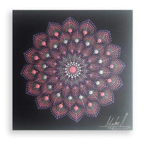 Pink Passion, Original Mandala Painting by Maria Derova