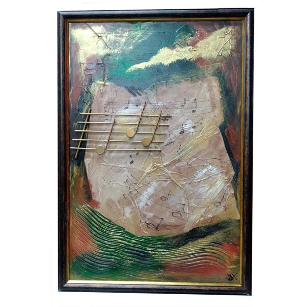 """Sound of Life, Mixed Painting 18x26"""" (45x65cm)"""