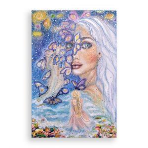To Мyself, Oil Pastel Painting by Milena Valkanova