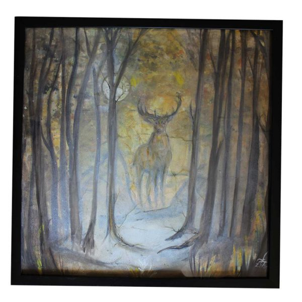 """Forest, Acrylic Painting 20x20"""" (51x51cm)"""