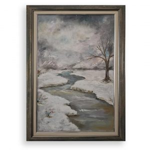 Winter Landscape, Oil Painting by Hristina Burdiniashka