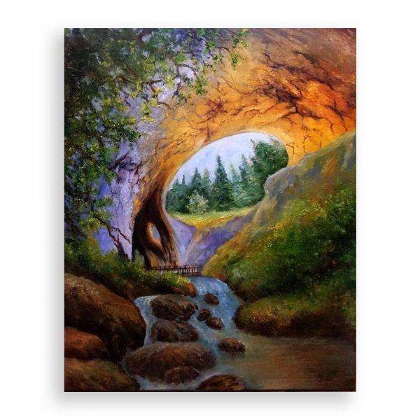 The Wonderful Bridges, Oil Painting by Elena Velichkova