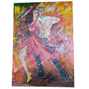 "Fire Dance, Acrylic Painting 20x24"" (50x60cm)"