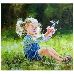 On the Field, Oil Painting 19x17 in / 50x45 cm