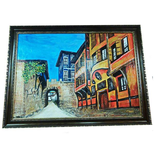 "Hissar Kapia, Mixed Painting 31x24"" (80x60cm)"