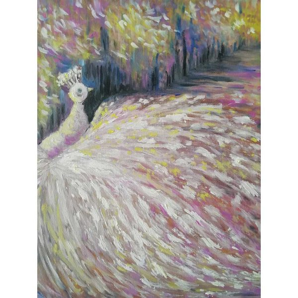 Bird of Paradise, Oil Painting 16x16 in / 40x40 cm