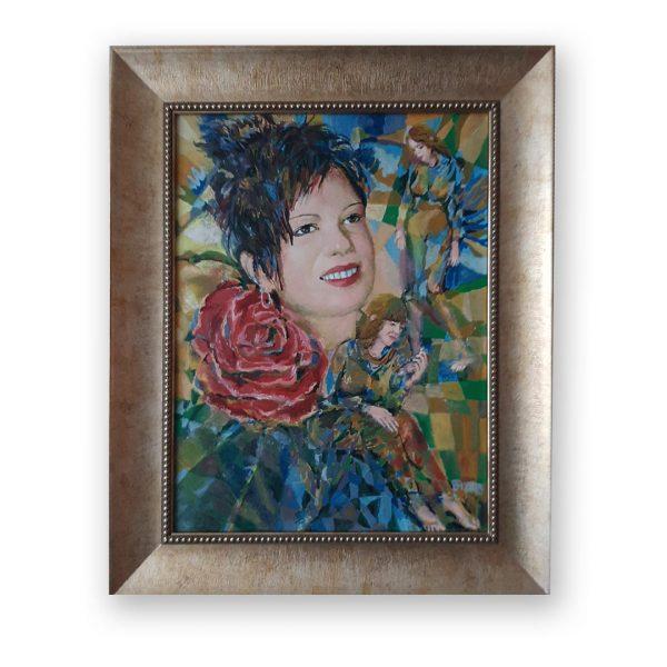 Rose, Oil Painting by Veselin Nikolov