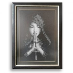 Prayer, Tapestry Embroidery by Diana Ivanova