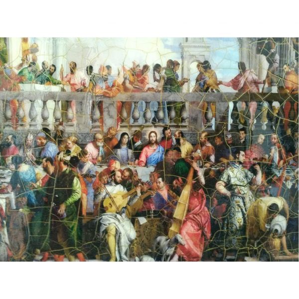 """The Wedding at Cana Wooden Print Painting 14x12"""" (36x30 cm)"""