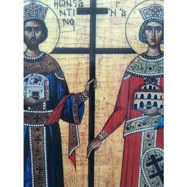 "Constantine and Helena, Christian Icon 8x6"" (21x15cm) - Artastate"