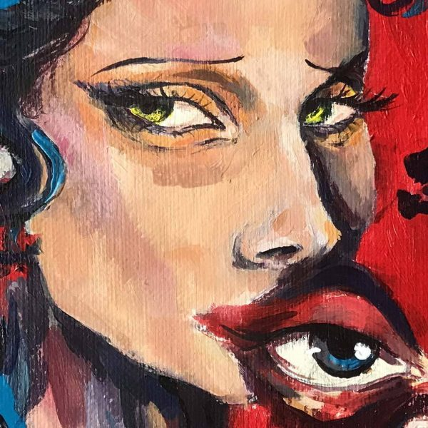 "Awakening, Acrylic Painting 14x10"" (35x27cm) - Artastate"