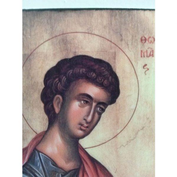 """""""Saint Thomas"""" Christian Icon 4x3"""" (11x8cm)"""