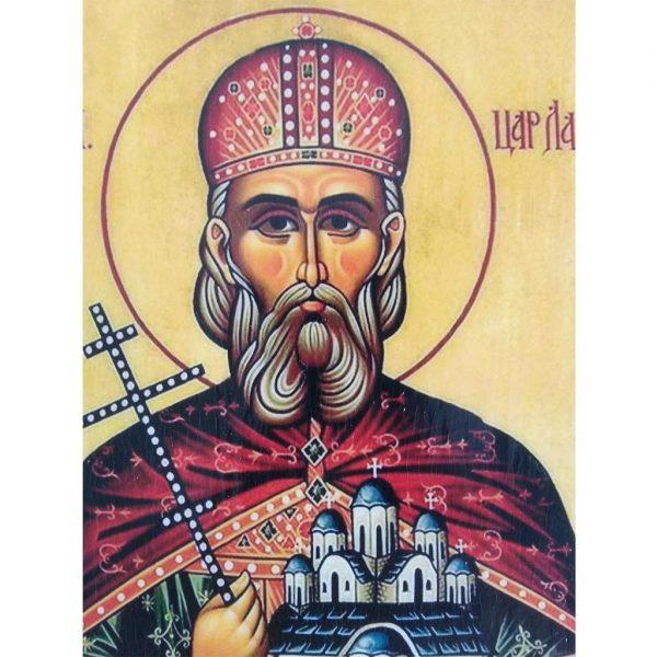 """Saint King Lazarus, Christian Icon 6x4"""" (16x11cm) - Artastate"""