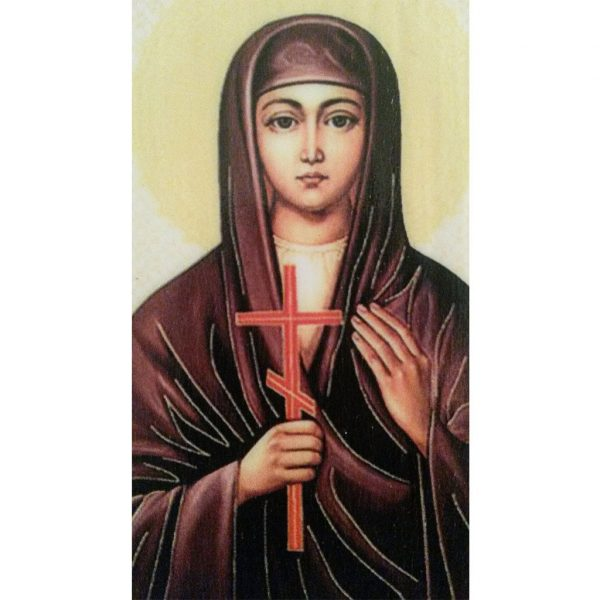 """Saint Valentina"" Christian Icon 4x3"" (11x8cm)"
