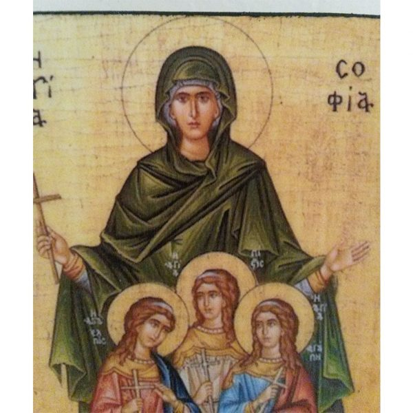 """Saint Sophia"" Christian Icon 4x3"" (11x8cm)"