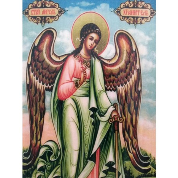 "Guardian Angel, Christian Icon 6x4"" (16x11cm) - Artastate"