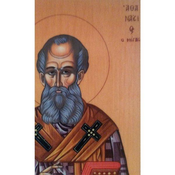 "Saint Athanasius, Christian Icon 4x3"" (11x8cm) - Artastate"
