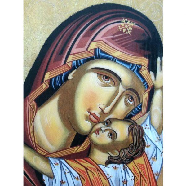 """""""Theotokos"""" Christian Icon 6x6"""" (16x15cm)"""