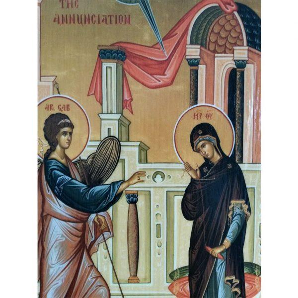 """Annunciation, Christian Icon 8x6"""" (21x15cm) - Artastate"""
