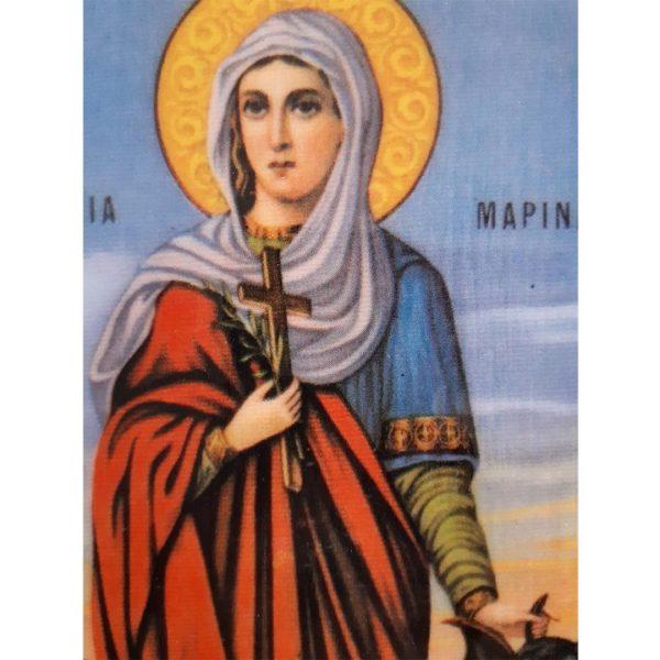 Saint Marina, Christian Icon 8x6 in / 21x15 cm
