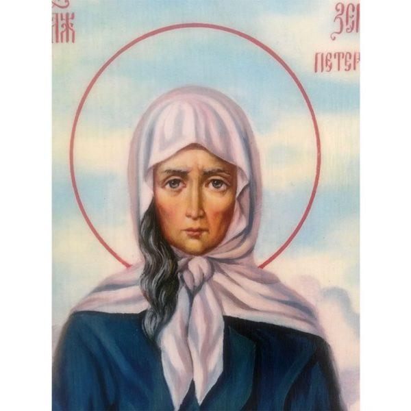 Saint Xenia, Christian Icon 8x6 in / 21x15 cm
