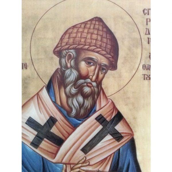 """Saint Spyridon"" Christian Icon 8x6"" (21x15cm)"