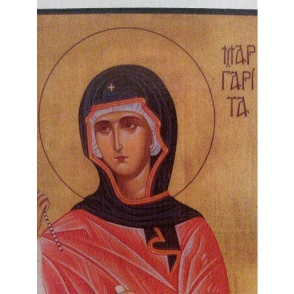 "Saint Margaret, Christian Icon 4x3"" (11x8cm) - Artastate"
