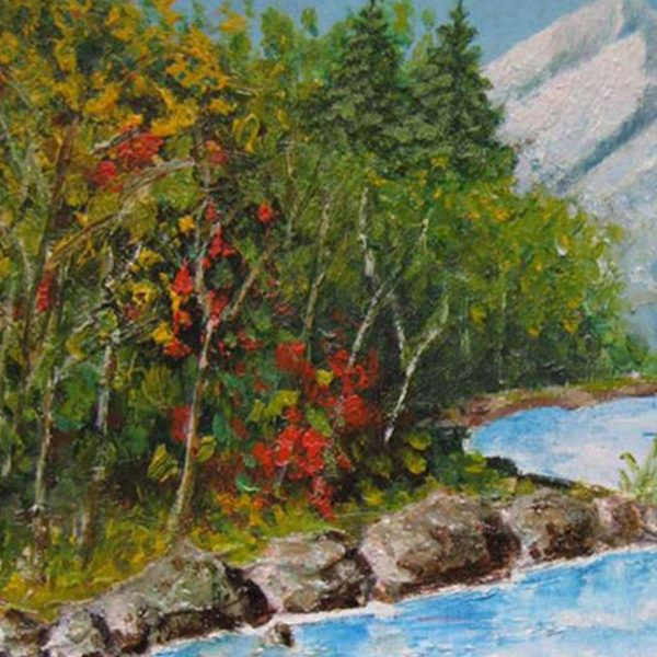 "Mountain Stream, Oil Painting 10x12"" (25x30cm)"