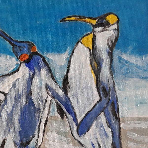 The Penguins, Acrylic Painting by Daniela Georgieva
