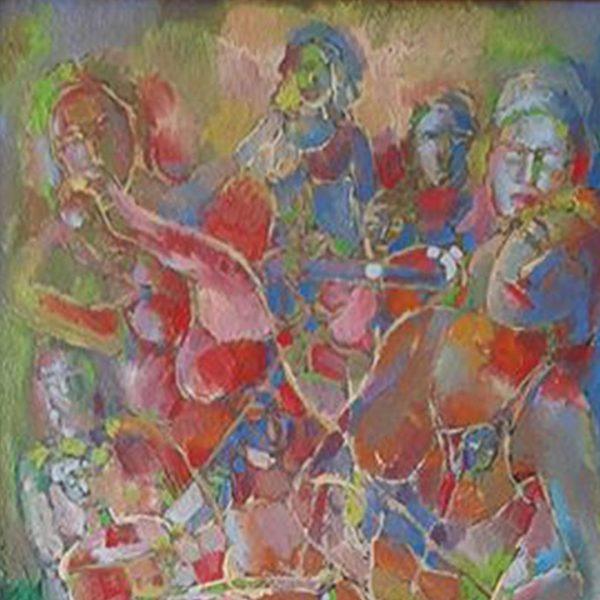 Music, Oil Painting by Veselin Nikolov
