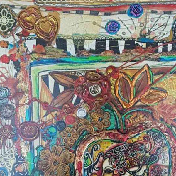 In the Womb of Paradise, Mixed Painting by Svetlana Taskova
