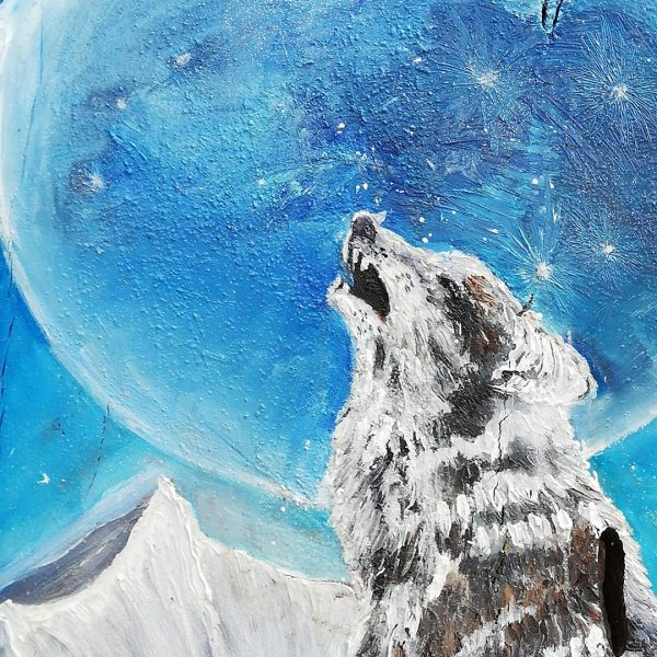 Lone Wolf, Oil Painting by Gergana Chorbova