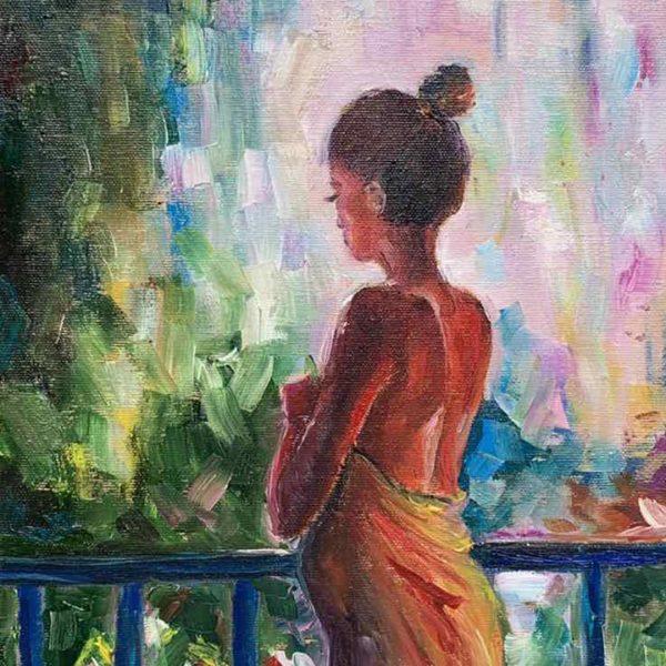 In The Garden, Oil Painting by Neda Nacheva