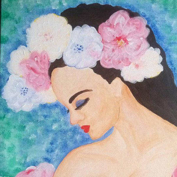 "Tenderness, Acrylic Painting 12x16"" (30x40cm)"