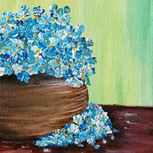 Cosiness in Blue, Acrylic Painting by Evelina Milanova