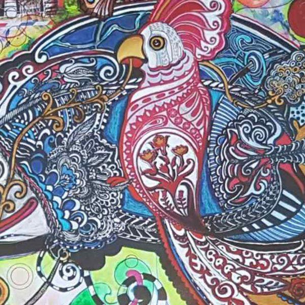 Friends, Mixed Painting by Svetlana Taskova